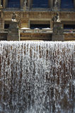 Cascade Fountains at Museum of Art of Catalonia. Stock Photos