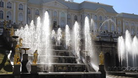 Cascade of Fountains  - Peterhof, St. Petersburg Royalty Free Stock Photography
