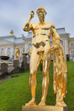 Cascade grande dans Pertergof, St Petersburg Image libre de droits