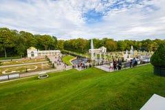 Cascade grande de Peterhof Photographie stock libre de droits
