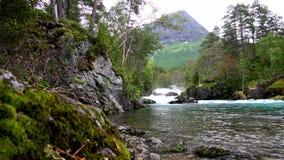 Cascade Gudbrandsjuvet, Norvège banque de vidéos