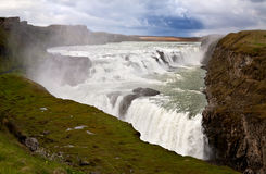Cascade of Gullfoss royalty free stock images