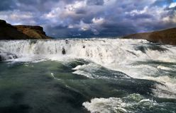 Cascade of Gullfoss Royalty Free Stock Photography