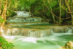 Cascade Huay Mae Kamin Photographie stock libre de droits