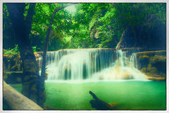 Cascade Huay Mae Kamin Image libre de droits