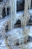 Cascade of icicles Stock Images