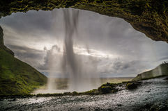 Cascade Islande de Seljalandsfoss Photo libre de droits