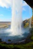 Cascade Islande de Seljalandsfoss Photos libres de droits