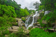 Cascade in the jungle. At Thailand Royalty Free Stock Photo
