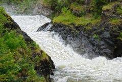 Cascade Jyrava, Finland. Stock Image