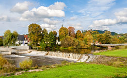 Cascade at Kinzig river in the Black Forest Stock Images