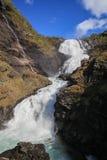Cascade Kjosfossen en Norvège Photographie stock libre de droits
