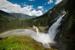Cascade Krimml de montagne Photographie stock libre de droits