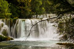 Cascade in Krka royalty free stock photo