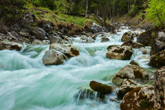 Cascade of Kuhfluchtwasserfall. Farchant, Garmisch-Partenkirchen Stock Photos