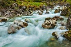 Cascade of Kuhfluchtwasserfall. Farchant, Garmisch-Partenkirchen Stock Images