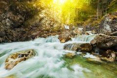 Cascade of Kuhfluchtwasserfall. Farchant, Garmisch-Partenkirchen Royalty Free Stock Images