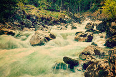 Cascade of Kuhfluchtwasserfall. Farchant, Garmisch-Partenkirchen Royalty Free Stock Photography