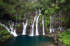Cascade Langevin Reunion. Waterflow in the Reunion island Royalty Free Stock Images