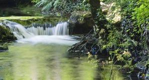 Cascade. Little cascade in a river of Pontevedra, Galicia (Spain Stock Image