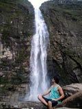 Cascade merveilleuse en Serra da Canastra, Brésil Photographie stock libre de droits