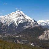 Cascade Mountain and Banff Springs Hotel Stock Photos