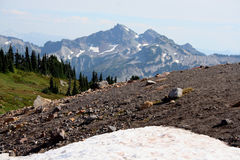 Cascade Mountain Range. Mount Rainier, Washington, USA Stock Photography