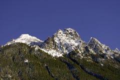 Cascade Mountain Range. The Cascade Mountain Range on the Cascade Loop, WA Stock Photo