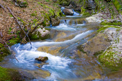 Cascade of mountain river Royalty Free Stock Image