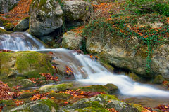 Cascade of mountain river Royalty Free Stock Images