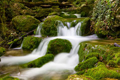 Cascade of mountain river Stock Image