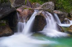 Cascade mountain river Stock Image