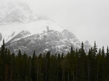 Cascade Mountain Snow Storm. Snow storm on Cascade Mountain, Banff National Park, Alberta, Canada Stock Photos