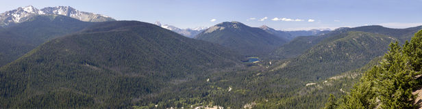 Cascade mountain view Stock Image