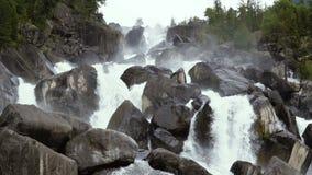 Cascade mountain waterfall. stock footage