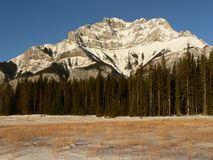 Cascade Mountain in Winter. Banff National Park, Alberta, Canada Royalty Free Stock Photography