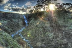 Cascade mystique Photo libre de droits