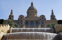Cascade at National Art Museum. Barcelona. Spain Royalty Free Stock Photos