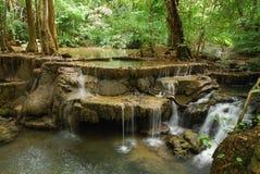 Cascade naturelle en parc national Photographie stock libre de droits