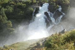 Cascade in norway Royalty Free Stock Photography