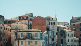 Cascade of old mediterranean houses Royalty Free Stock Photo