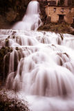 Cascade of Orbaneja del Castillo in winter Stock Photography