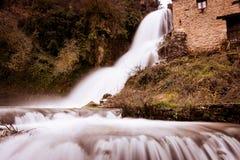 Cascade of Orbaneja del Castillo in winter Stock Images