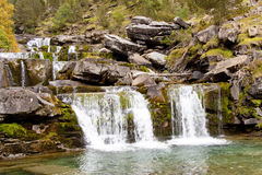 Cascade in ordesa national park. Royalty Free Stock Photo
