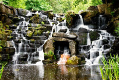 The cascade, ornamental waterfall at Virginia water. Royalty Free Stock Photography