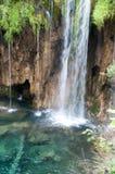 Cascade, parc national de lacs Plitvice Image libre de droits
