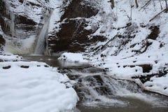 Cascade pendant l'hiver Photographie stock