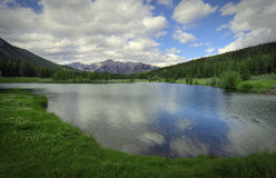 Cascade Ponds. Near Banff in Banff National Park Canada. These picturesque ponds are surrounded by the Rocky Mountains Royalty Free Stock Photos