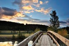 Cascade Ponds sunrise. Banff National Park stock photography