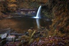Cascade Pontneddfechan de Sgwd Gwladus Photographie stock